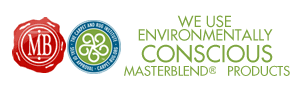 We use environmentally conscious masterblend products